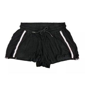 Harlowe & Graham Contrast Trim Shorts Black Pink